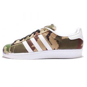 adidas Originals Superstar - Zapatillas deportivas para hombre, diseño de camuflaje, color verde, talla 42,5 EU