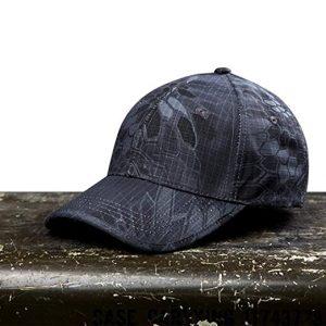 Noga Python camuflaje sombrero para el sol sombrero del ejército al aire libre simplicidad camuflaje táctico al aire libre Gorra de Pesca Senderismo Caza, color Black python Camouflage